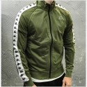 FELPA 222 ANNISTON SLIM - KAPPA - ART. 01EFU0 - COL. GREEN MILITARY/WHITE