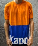 T-SHIRT AUTHENTIC SAND CARRENCY  - KAPPA - ART. 304S430 - COL. ORANGE-BLUE ROYAL-WHITE (A01)