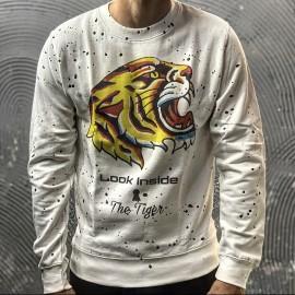 FELPA THE TIGER 1 - LOOK INSIDE  - COL. BIANCO
