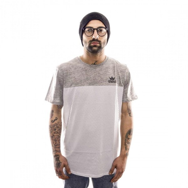 SWAG T-SHIRT OVER - ART. SW17 - COL. BIANCO/GRIGIO