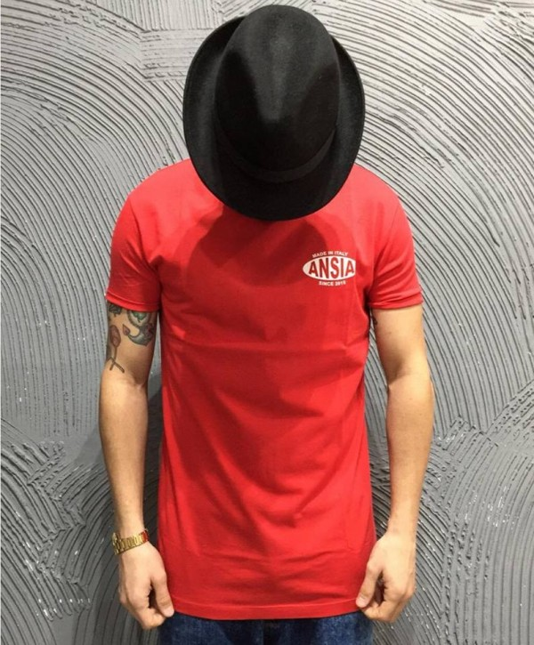 T-SHIRT ANSIA - ART. ANTS002 - COL. ROSSO
