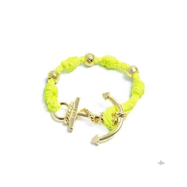 BRACCIALETTO LOVE BOAT - MIA's -Oro/giallofluo bracciale Ancora e nodi