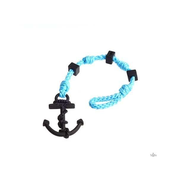 BRACCIALETTO SQUARE - MIA's - Azzurro/black bracciale Ancora e nodi