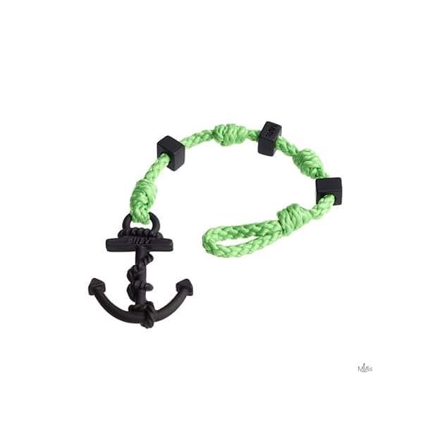 BRACCIALETTO SQUARE - MIA's - Grass/black bracciale Ancora e nodi