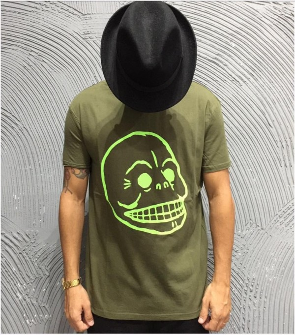 CHEAP MONDAY T-SHIRT - ART. STANDARD TEE SKULL - COL. MUD GREEN